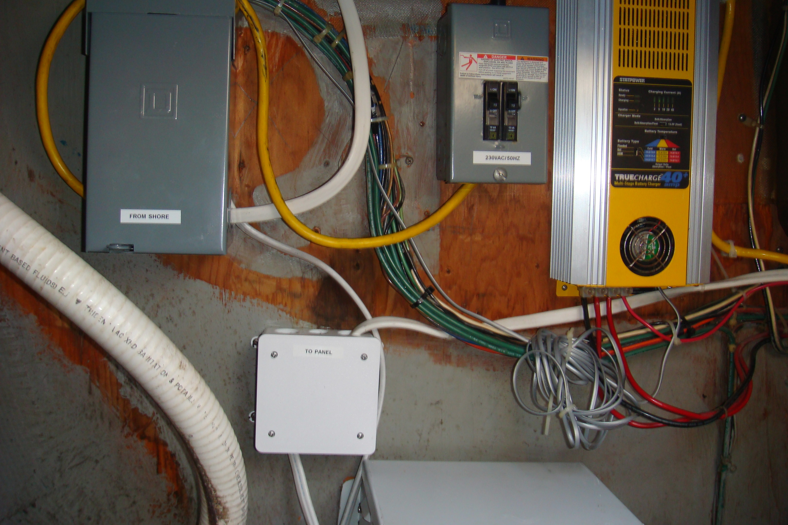 European Shore Power Plan 230 Vac Wiring Click On Picture To View At Full Resolution