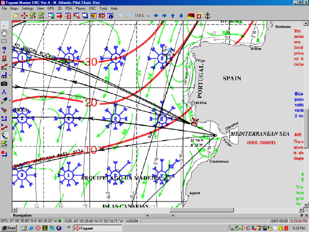 Electronic pilot charts