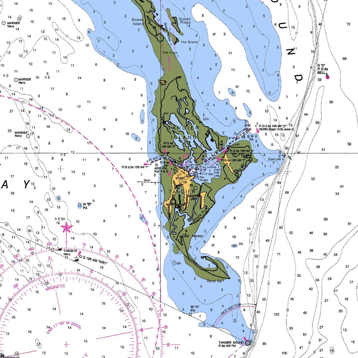 Tangier Island Virginia Map.Tangier Island