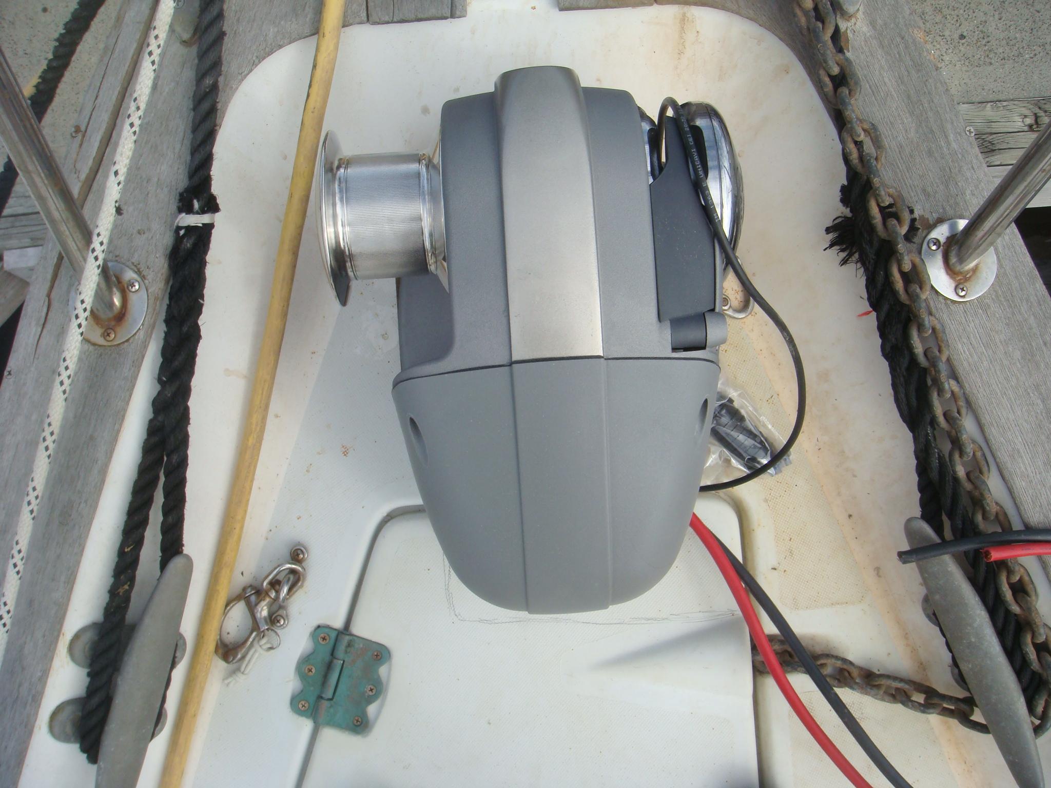 installing a quick windlass overhang on the anchor locker hatch
