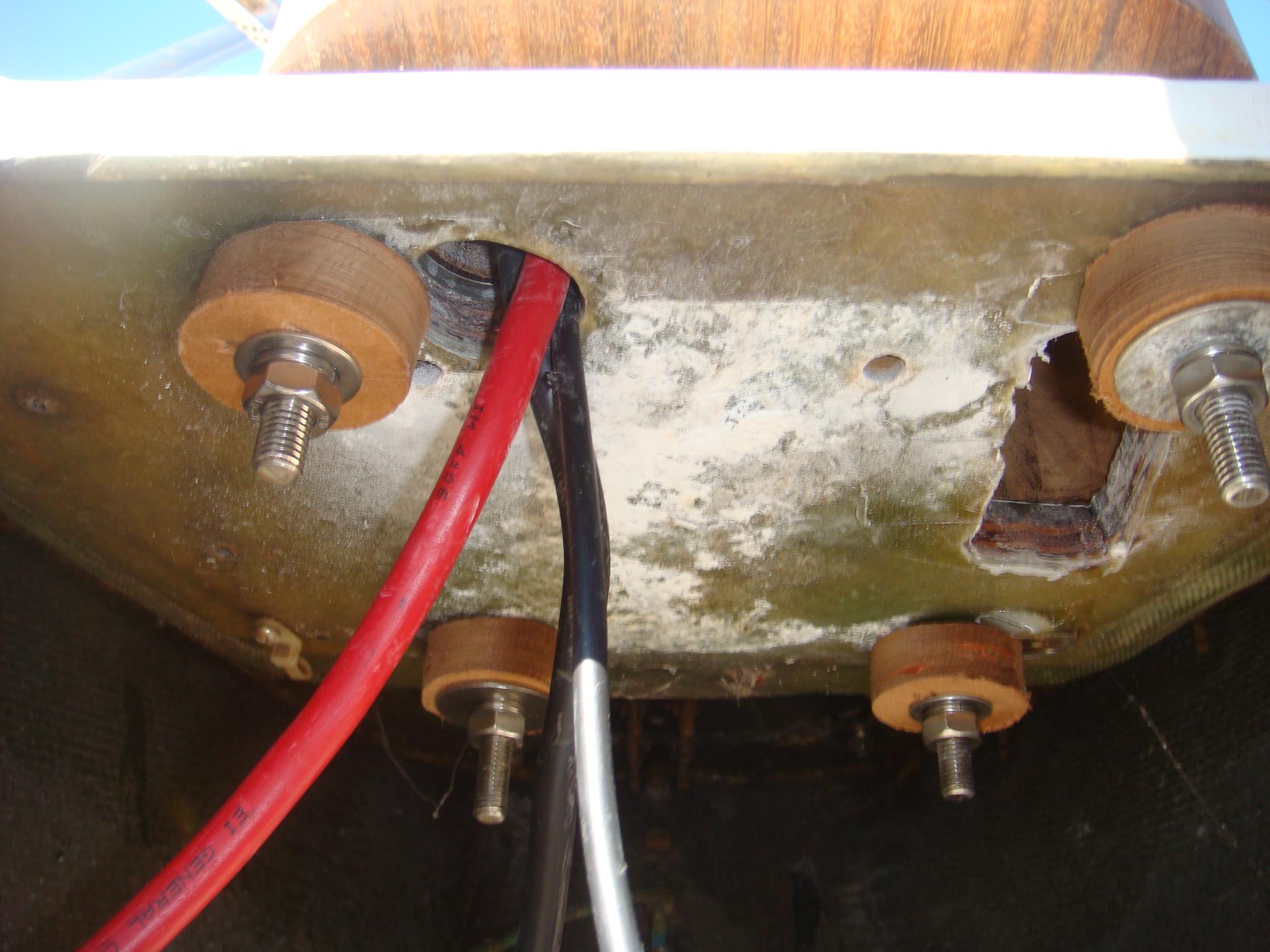 Installing A Quick Windlass Wiring Through Studs Forward Port Stud Re Threaded Into Housing